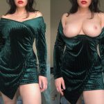 which do you think is softer, the velvet dress or my boobs? ;) [OC]